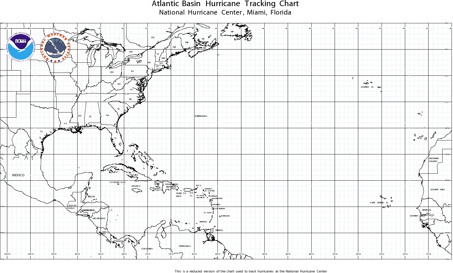 Current image for hurricane tracking map printable