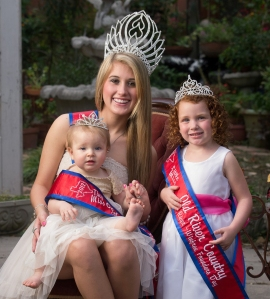 From Left to Right: Kaila Johnson, Tiny Miss Old River Country; Maci Ryman, Miss Old River Country, and Isabelle Lawrence, Little Miss Old River Country.