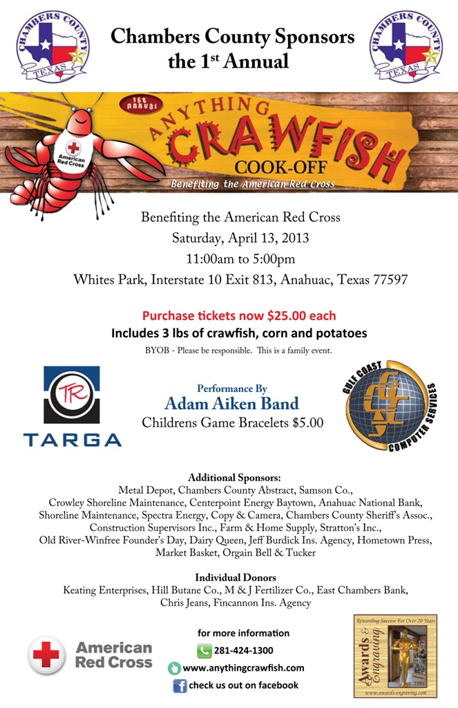 "Chambers County 1st Annual ""Anything Crawfish"" Cook-Off"
