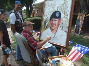 The very first Portrait of a Warrior that started Ken Pridgeon on his journey is of Pfc Wesley R. Riggs