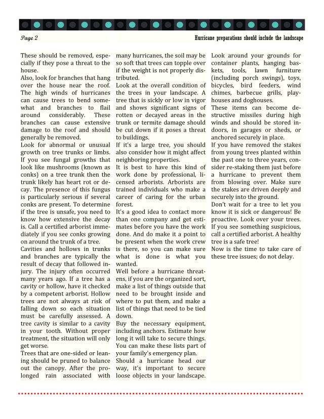 06-05-2013 - Hurricane preparations should include the landscape by Dr  william M  Johnson-page-1