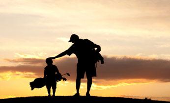 Dad-son-golfing