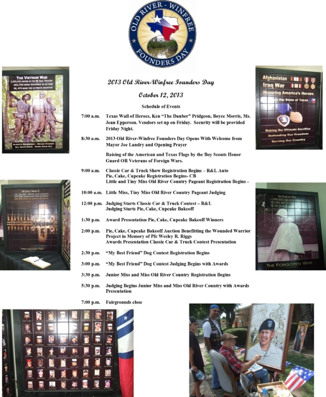 2013 ORWFD Schedule of Events