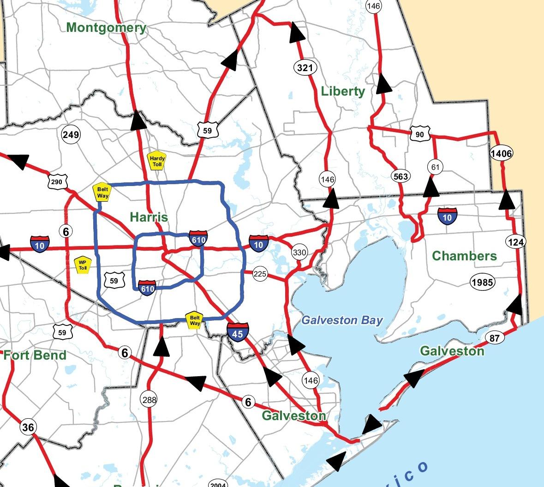 2014 Texas Hurricane Evacuation Map | Old River-Winfree ...